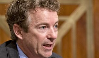 ** FILE ** In this Nov. 6, 2013, file photo, Sen. Rand Paul, R-Ky., speaks on Capitol Hill in Washington.  (AP Photo/J. Scott Applewhite, File)