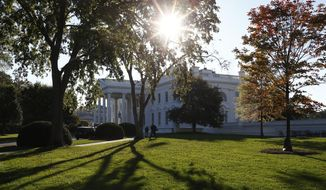 FILE - This Oct. 18, 2013, file photo, shows the White House in Washington. Getting ready to run for president means working through a hefty checklist of activities long before most people are paying attention to the contest ahead. Prep work, positioning and auditioning don't wait for the primary season. Just about everyone thinking about running for president is kicking it into gear now, slowpokes included. (AP Photo/Charles Dharapak, File)