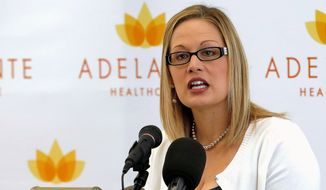 Rep. Kyrsten Sinema, Arizona Democrat, applauded Congress' bipartisan effort to reverse the planned cuts to Medicare Advantage payments. (Associated Press)