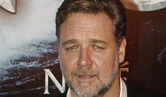 "In this April 1, 2014 file photo, New Zealand actor Russell Crowe poses for photographers at the premiere of his film ""Noah"" in Paris. Malaysia and Indonesia have banned the biblical epic ""Noah,"" joining other Muslim nations that forbid the Hollywood movie for its visual depiction of the prophet. Film censors in both countries said Monday, April 7, 2014, that the portrayal of the ark-building prophet by Crowe was against Islamic laws. Depictions of any prophet are shunned in Islam to avoid worship of a person rather than God. (AP Photo/Thibault Camus, File)"