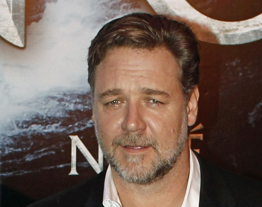 """In this April 1, 2014 file photo, New Zealand actor Russell Crowe poses for photographers at the premiere of his film """"Noah"""" in Paris. Malaysia and Indonesia have banned the biblical epic """"Noah,"""" joining other Muslim nations that forbid the Hollywood movie for its visual depiction of the prophet. Film censors in both countries said Monday, April 7, 2014, that the portrayal of the ark-building prophet by Crowe was against Islamic laws. Depictions of any prophet are shunned in Islam to avoid worship of a person rather than God. (AP Photo/Thibault Camus, File)"""