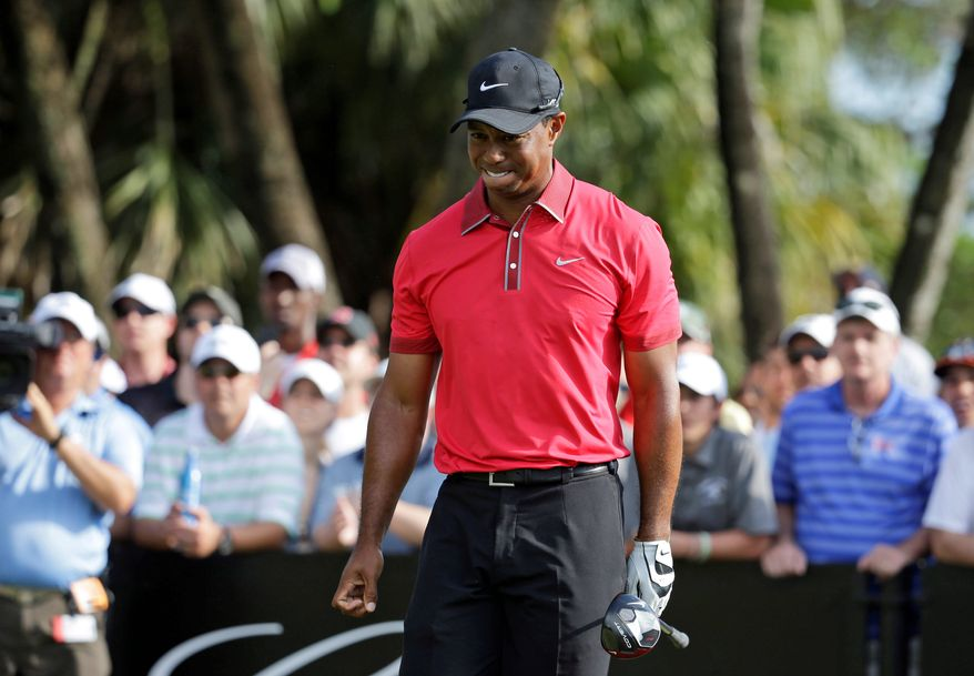 Sharp bite: Tiger Woods' withdrawal from the Masters for the first time in his career resulted in car rental cancellations, a drop in the value of tournament badges and nightmares for bookmakers. (Associated Press Photographs)
