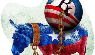 Obamacare Donkey Illustration by Greg Groesch/The Washington Times