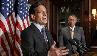 House Majority Leader Eric Cantor, once seen as a champion for conservatives and a possible candidate for House speaker, now is struggling to hold on to his leadership. (Associated Press)