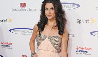 FILE - This May 22, 2011 file photo shows TV personality Samantha Harris  arrives at The 26th Annual Sports Spectacular in Los Angeles. Harris says she's battling breast cancer. (AP Photo/Katy Winn, File)