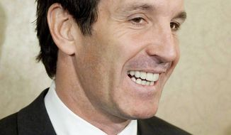 FILE - This is a Nov. 9, 2010 file photo showing Brendan Shanahan speaking to reporters in Toronto. Shanahan has been hired as the Toronto Maple Leafs NHL hockey team president and alternate governor, the team announced Friday. April 11, 2014. (AP Photo/The Canadian Press, Darren Calabrese, File)