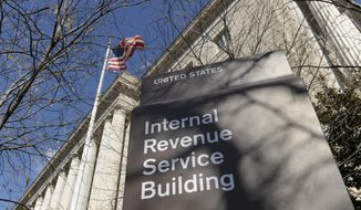 ** FILE ** This March 22, 2013, file photo shows the exterior of the Internal Revenue Service building in Washington. (AP Photo/Susan Walsh, File)