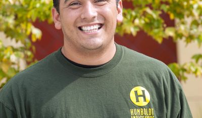 This undated photo provided by Humboldt State University shows Arthur Arzola.  Arzola, 26, of Rancho Cucamonga, Calif. Arzola, a staff member in the admissions office at Humboldt State who was accompanying students on a visit to the campus, died in the fiery collision of a tour bus and FedEx truck on Interstate 5 near Orland, Calif., Thursday, April 10, 2014, according to the Sacramento County coroner. (AP Photo/Humboldt State University)