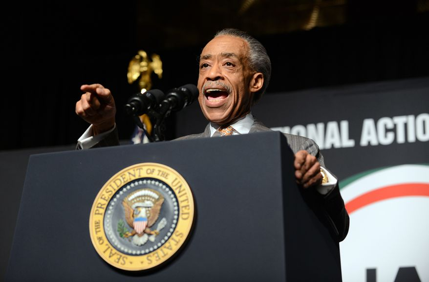 ** FILE ** The Rev. Al Sharpton, National Action Network president and founder, speaks at the National Action Network conference Friday, April 11, 2014, in New York. (AP Photo/The Daily News, Julia Xanthos, Pool)