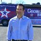 George P. Bush, the son of former Florida Gov. Jeb Bush and nephew of former President George W. Bush, in a new Public Policy Polling survey leads his Democratic opponent by a wide margin in his quest to be elected Texas state land commissioner.
