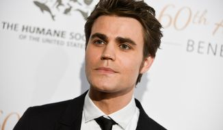 """FILE - This March 29, 2014 file photo shows Paul Wesley at The Humane Society Of The United States 60th Anniversary Benefit Gala in Beverly Hills, Calif. Wesley stars in the CW series """"The Vampire Diaries."""" He will direct his first episode of the popular series on Thursday, April 17. (Photo by Richard Shotwell/Invision/AP, File)"""