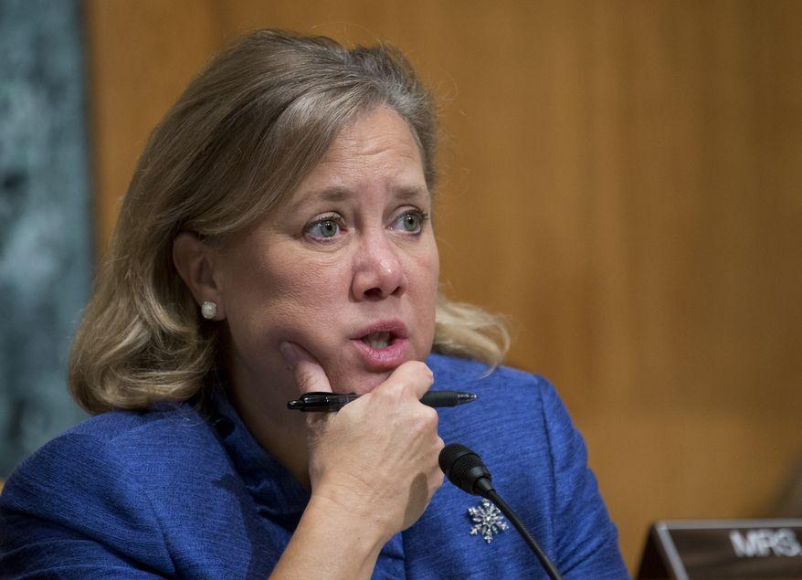** FILE ** This Dec. 5, 2012, file photo shows Sen. Mary Landrieu, D-La., on Capitol Hill in Washington. (AP Photo/Manuel Balce Ceneta, File)
