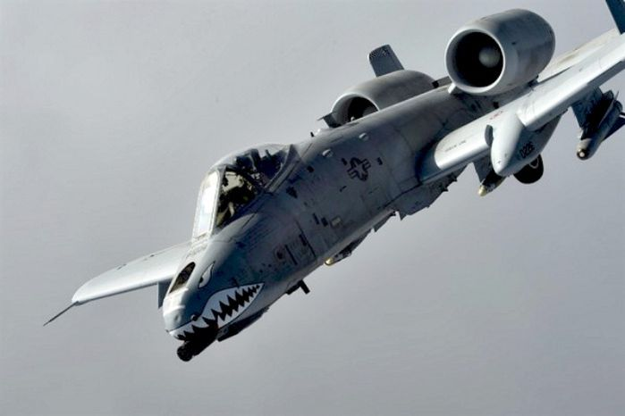 A U.S. Air Force A-10 Thunderbolt II from the 74th Expeditionary Fighter Squadron, Bagram Airfield, Afghanistan flies a combat sortie Jan. 7, 2014, over Northeast, Afghanistan. (U.S. Air Force photo by Tech. Sgt. Jason Robertson/not reviewed)