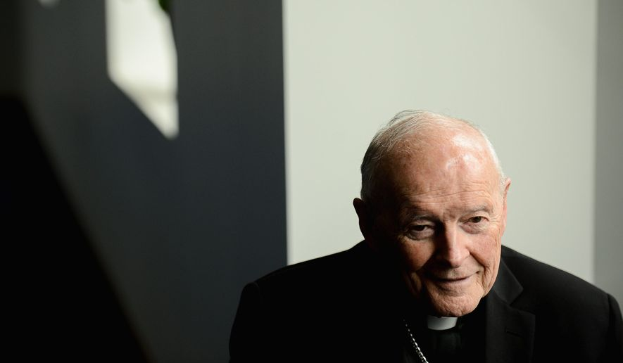 Cardinal Theodore E. McCarrick (Andrew Harnik/The Washington Times)