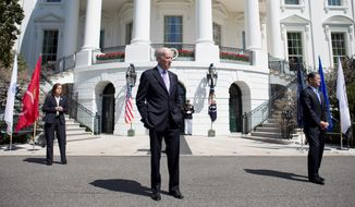Inside out: Joseph R. Biden faces a similar hurdle as other sitting vice presidents campaigning for higher office: being seen as a candidate with no ideas of his own. (ASSOCIATED PRESS)