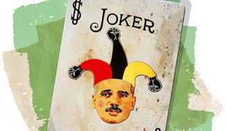 Joker Race Card Illustration by Greg Groesch/The Washington Times