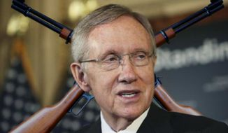 ** FILE **  Senate Majority Leader Harry Reid of Nev. speaks on Capitol Hill in Washington on May 5, 2010. (Associated Press)
