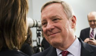 ** FILE ** Sen. Dick Durbin, D-Ill. (AP Photo/Andrew A. Nelles, File)