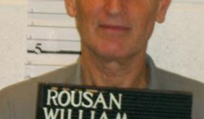 In this Dec. 1, 2013 provided by the Missouri Department of Corrections is William Rousan. Rousan is scheduled to die at 12:01 a.m. Wednesday. He was sentenced to death for killing 62-year-old Grace Lewis in 1993 and was sentenced to life in prison for killing her 67-year-old husband. (AP Photo/Missouri Department of Corrections)