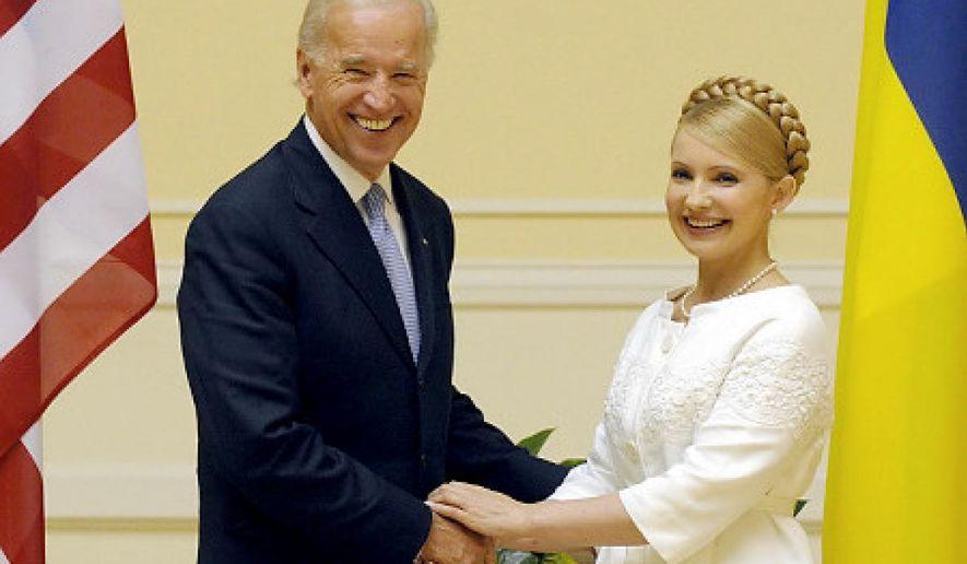 Vice President Joeseph R. Biden met with Ukraine's PM Yulia Tymoshenko in Kiev in 2009. (Associated Press photo)