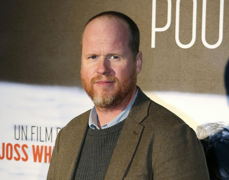 """This Jan. 21, 2014, file photo shows American film producer and director Joss Whedon at the screening of """"Much Ado About Nothing"""" in Paris. Mr. Whedon has been brought on by Warner Bros. to finish """"Justice League"""" after grief-stricken director Zack Snyder asked to be excused from the project. (AP Photo/Remy de la Mauviniere, File) **FILE**"""
