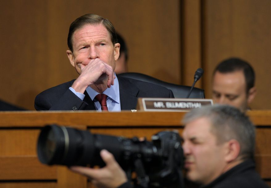 **FILE** Sen. Richard Blumenthal, Connecticut Democrat (Associated Press)
