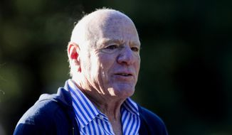 FILE - In this July 7, 2010 file photo, media billionaire Barry Diller attends the annual Allen & Co. Media summit in Sun Valley, Idaho. Diller is the financial backer of Aereo Inc., an Internet startup company that gives subscribers access to television programs on their laptop computers, smartphones and other portable devices. Broadcasters say Aereo is essentially stealing their programming by taking free television signals from the airwaves and sending them over the Internet without paying redistribution fees. The Supreme Court will hear arguments in the case Tuesday, April 22, 2014. (AP Photo/Nati Harnik, File)