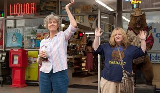 """This image released by Warner Bros. Pictures shows Susan Sarandon, left, and Melissa McCarthy in a scene from """"Tammy."""" (AP Photo/Warner Bros. Pictures, Michael Tackett)"""