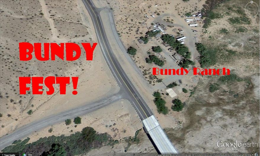 """An organizer for the annual Burning Man festival in Nevada has decided to take the party to Cliven Bundy's ranch for a 30-day, rules-free """"Bundyfest."""" (Sean Shealy via Facebook)"""