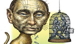 Illustration of Vladimir Putin by Kevin Kreneck/Tribune Content Agency