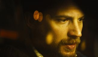 "This image released by A24 Films shows Tom Hardy in ""Locke."" (AP Photo/A24 Films)"