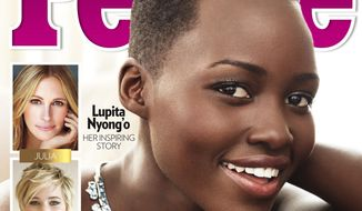 "This image provided by People magazine shows the cover of its special ""World's Most Beautiful"" issue, featuring Lupita Nyong'o. (AP Photo/People)"