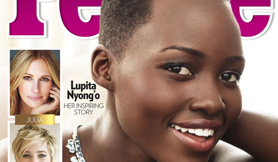 """This image provided by People magazine shows the cover of its special """"World's Most Beautiful"""" issue, featuring Lupita Nyong'o. (AP Photo/People)"""