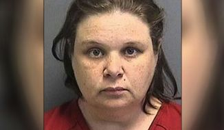 Stephanie Wilkerson, a 41-year-old former driver for the Hillsborough County School District, pleaded guilty to the September 2012 incident in which she is seen on surveillance video kicking a young girl off the bus. (Hillsborough County Sheriff's Office)