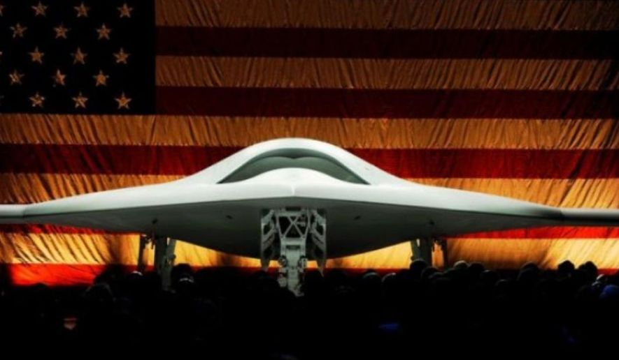 The X-47B at its unveiling ceremony in December 2008. (U.S. Navy)