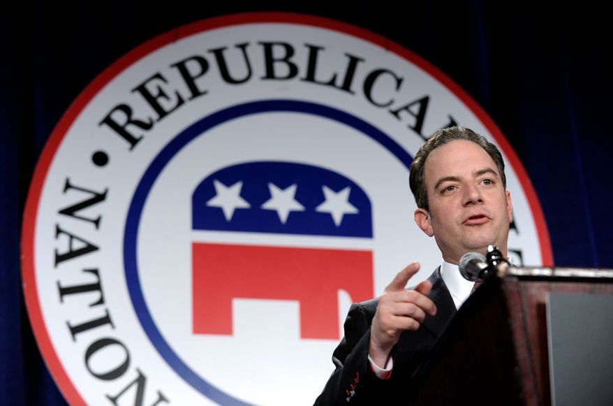 Republican National Committee Chairman Reince Priebus wasted no time in bidding Oregon's failed health care portal, Cover Oregon, goodbye and assigning blame for glitch-laden site to Democratic Gov. John Kitzhaber and Sen. Jeff Merkley, also a Democrat. (Associated Press)