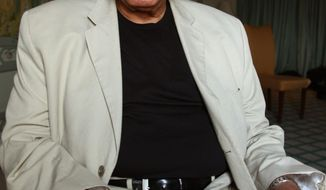 """FILE - This Jan. 7, 2013 file photo shows actor James Earl Jones in Sydney, Australia. Jones is coming back to Broadway in a play that's almost as old as he is. The 87-year-old two-time Tony Award-winner will star in a fall revival of """"You Can't Take It With You,"""" the 1936 comedy about a wealthy uptight family meeting an off-kilter one was written by Moss Hart and George S. Kaufman. Scott Ellis will direct. Previews will begin in August, with official opening set for Sept. 28 at a theater to be announced. (AP Photo/Rick Rycroft, File)"""