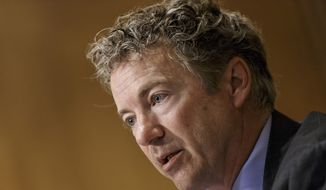 ** FILE ** This April 8, 2014, file photo shows Sen. Rand Paul, R-Ky. speaking on Capitol Hill in Washington. (AP Photo/J. Scott Applewhite, File)