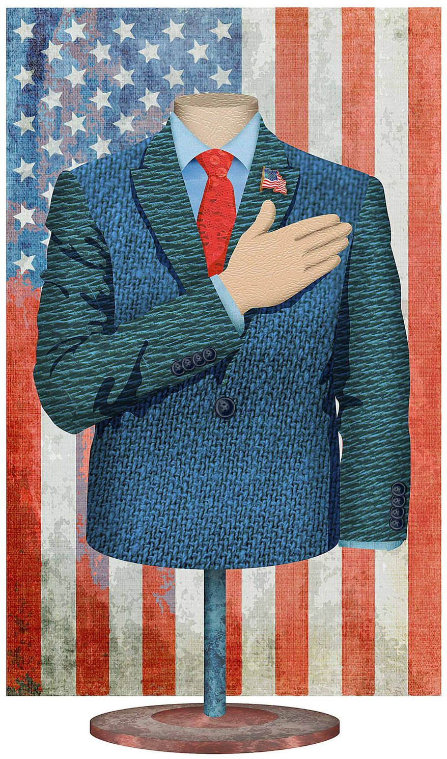 Oath of Office Suit Illustration by Greg Groesch/The Washington Times