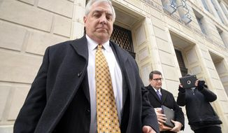 FILE - Robert Mericle leaves the William J Nealon Federal Building and United States Courthouse, in this Feb. 26, 2014 file photo taken in Scranton, Pa. The developer at the center of one of the biggest judicial scandals in U.S. history is scheduled to be sentenced Friday April 25, 2014 in northeastern Pennsylvania. (AP Photo/The Citizens' Voice, Mark Moran, File)