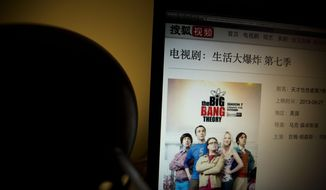 "An online streaming website shows a description of American TV show ""The Big Bang Theory"" but it no longer have access to episodes in the series on a computer screen in Beijing Sunday, April 27, 2014. Chinese authorities have ordered video streaming websites in the country to stop showing four popular American TV shows, including ""The Big Bang Theory"" and ""The Good Wife,"" representatives from two sites said Sunday. (AP Photo/Ng Han Guan)"