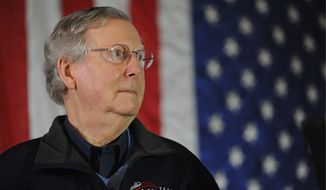 Republican veterans in the Senate, including Minority Leader Mitch McConnell of Kentucky, face primary battles. (Associated Press)