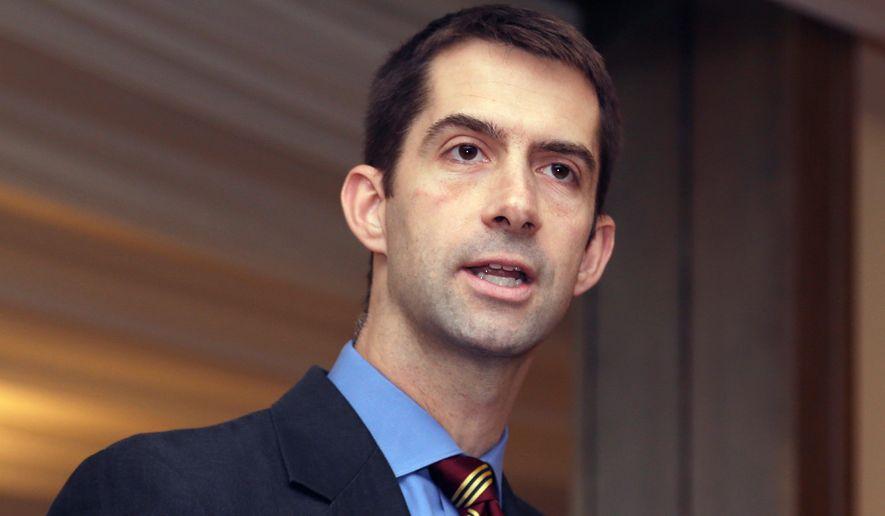 Rep. Tom Cotton, Arkansas Republican is running for the U.S. Senate seat now held by U.S. Sen. Mark Pryor, a Democrat. (Associated Press)