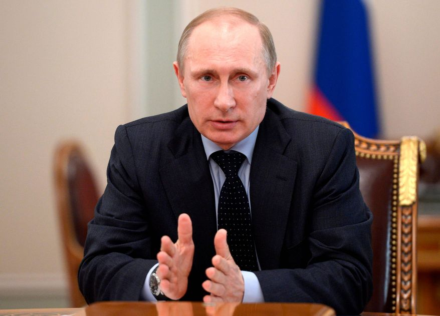 Russian President Vladimir Putin (AP Photo/RIA-Novosti, Alexei Nikolsky, Presidential Press Service)