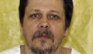 FILE- In this undated file photo provided by the Ohio Department of Rehabilitation and Correction shows Dennis McGuire. McGuire was executed in January 2014, for the 1989 rape and fatal stabbing of Joy Stewart, but took 26 minutes to die from an two-drug combo of a sedative and painkiller used by the state for the first time. The Ohio Department of Rehabilitation and Correction said it will increase the dosage of the lethal injection drugs Monday, April 28, 2014, for the next scheduled execution on May 28. (AP Photo/Ohio Department of Rehabilitation and Correction, File)