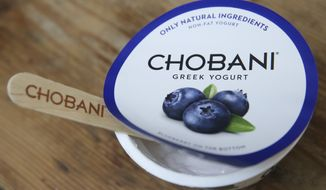 **FILE** Chobani Blueberry Greek Yogurt (John Minchillo/AP Images for Chobani)