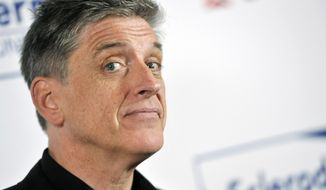 """FILE - In this Tuesday, April 30, 2013, file photo, comedian Craig Ferguson poses at the Cool Comedy's Hot Cuisine Benefit for the Scleroderma Research Foundation at the Four Seasons Hotel in Beverly Hills, Calif. Ferguson, the Scottish-born host of """"The Late Late Show"""" since 2005, told his studio audience during taping, on Monday, April 28, 2014, that he will step down at the end of the year. (Photo by Chris Pizzello/Invision/AP, File)"""