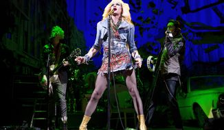 """** FILE ** This file image released by Boneau/Bryan-Brown shows Neil Patrick Harris in a scene from """"Hedwig and the Angry Inch,"""" at the Belasco Theatre in New York. """"Hedwig and the Angry Inch,"""" a cult off-Broadway hit, won eight Tony nominations on Tuesday, April 29, 2014. (AP Photo/Boneau/Bryan-Brown, Joan Marcus, File)"""