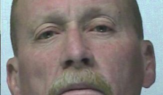 In this photo provided by Washington State Department of Corrections, Larry Gillette is shown.  FBI agents arrested 53-year-old  Gillette, of Shelton, on Monday, April 28, 2014,  as he met with an undercover agent and attempted to ignite a car bomb. The bomb was inoperable. The U.S. attorney's office says Gillette was scheduled to appear in federal court in Tacoma on Tuesday on charges of solicitation to commit a crime of violence and being a felon in possession of a firearm. Authorities say the FBI learned about the plot while Gillette was serving a prison sentence for identity theft. An undercover agent befriended him after his April 14 release. (AP Photo/Washington State Department of Corrections)