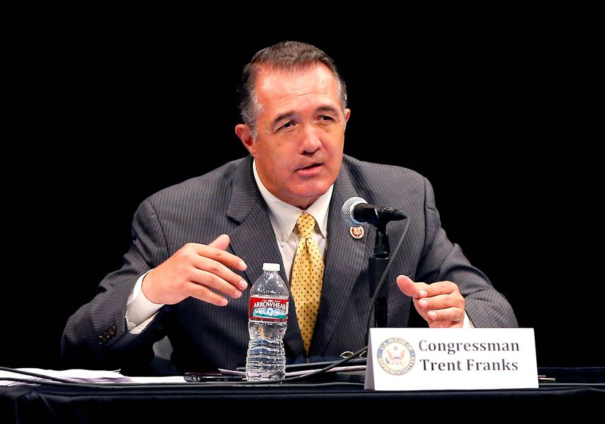"""Republican Reps. Trent Franks, Matt Salmon and David Schweikert wrote a letter to Secretary of Veterans Affairs Eric Shinseki on Tuesday, citing reports that officials at the Phoenix Veterans Health Care System had kept a """"secret list"""" of patient requests in order to conceal the fact that some patients were being made to wait more. """"As a direct result of such practices, the deaths of over 40 veterans have come to light,"""" they wrote in the letter. (associated press photographs)"""